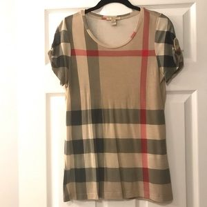 ✨BURBERRY✨ Classic Check Print Short Sleeve 👚!